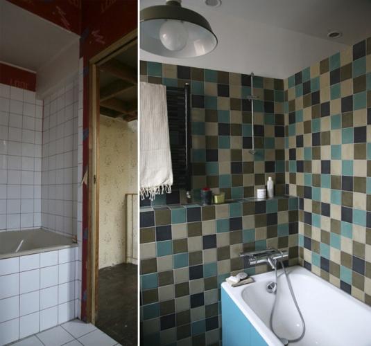 Rénovation complète d'une maison individuelle : Salle de bain / 1°étage