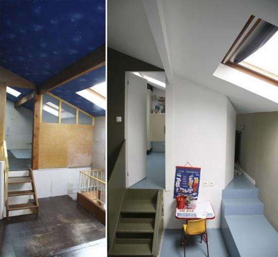 Rénovation complète d'une maison individuelle : Espace des enfants / 3°étage