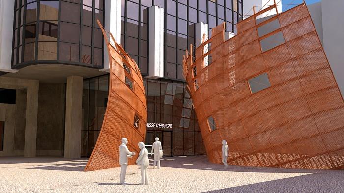 Sculpture monumentale Parvis Tour Siège Caisse d'Epargne : 003b.jpg