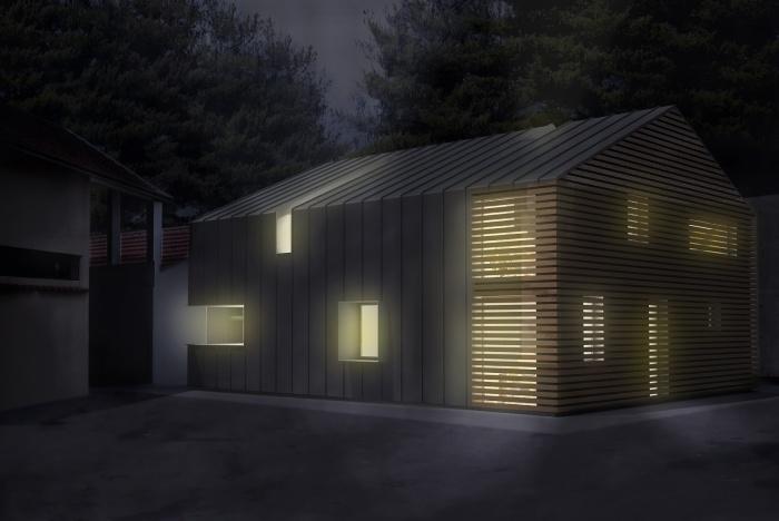 Maison ossature bois : Vue de nuit