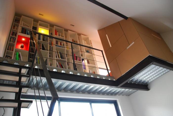 Réhabilitation et extension d'une habitation : Domont_bibliothèque