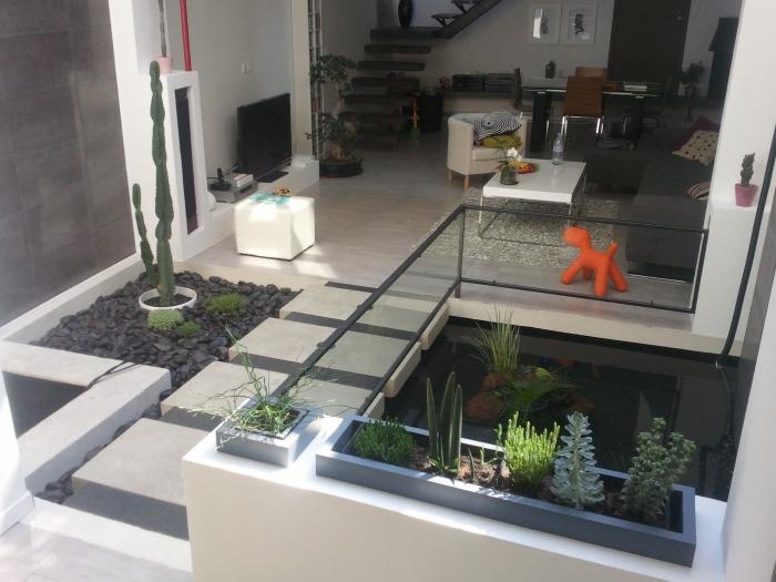 Réhabilitation et extension d'une habitation : Domont_bassin_depuis_cuisine