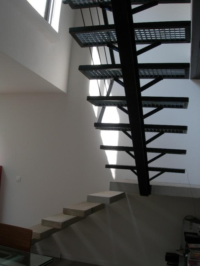 Réhabilitation et extension d'une habitation : Domont_escalier