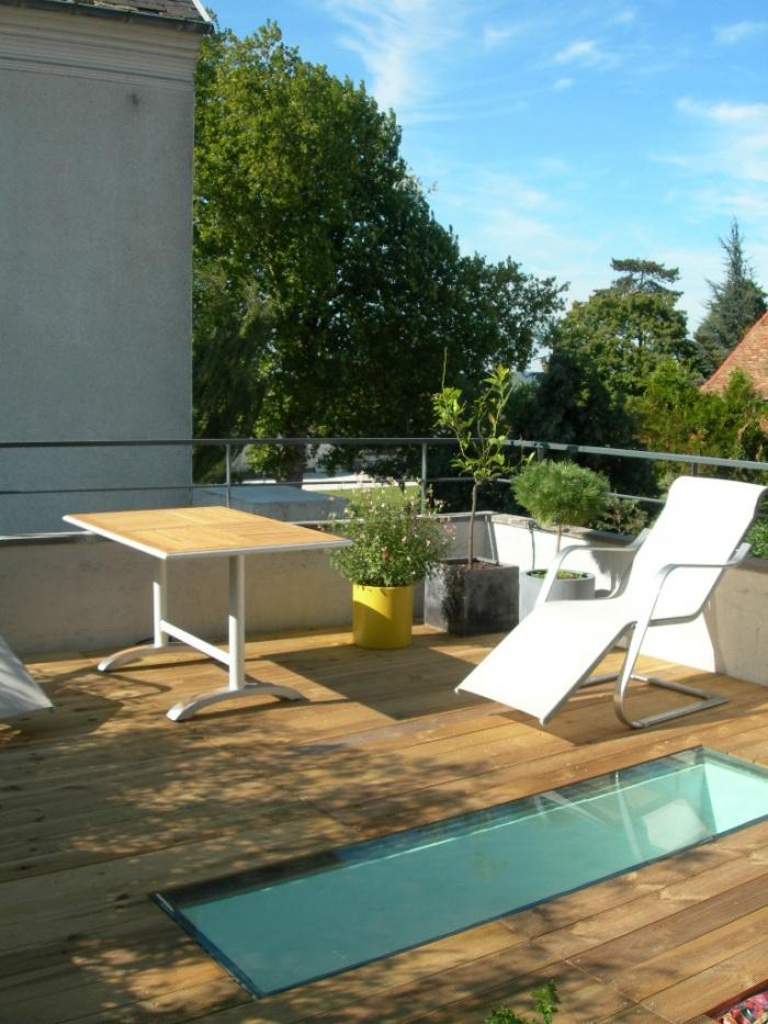Réhabilitation et extension d'une habitation : Domont_terrasse