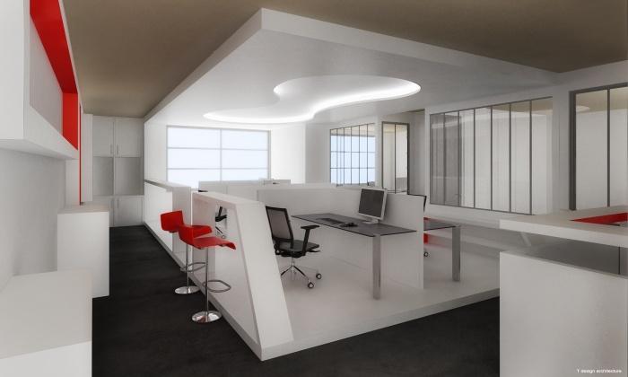 Un plateau de bureaux