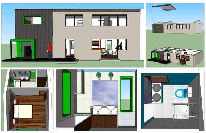 Extension bioclimatique d'une maison