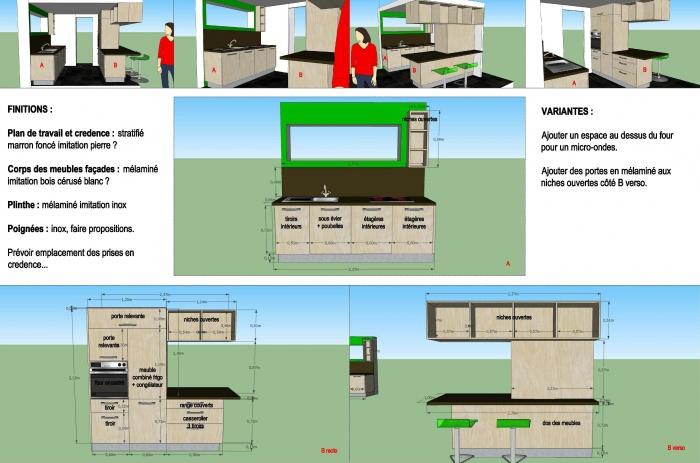 Extension bioclimatique d'une maison : cuisine