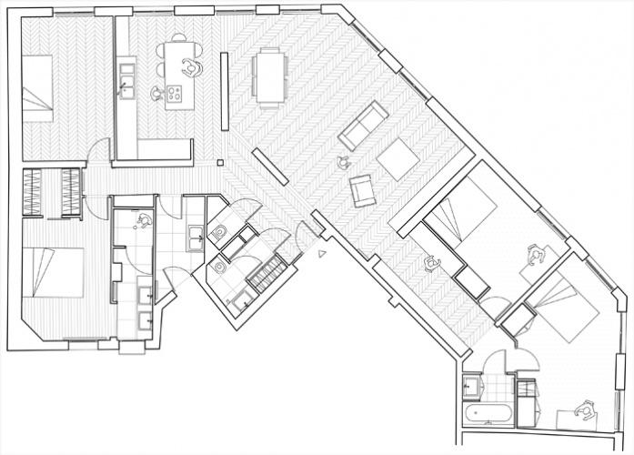 Appartement, Levallois à Levallois-Perret : une réalisation de ...