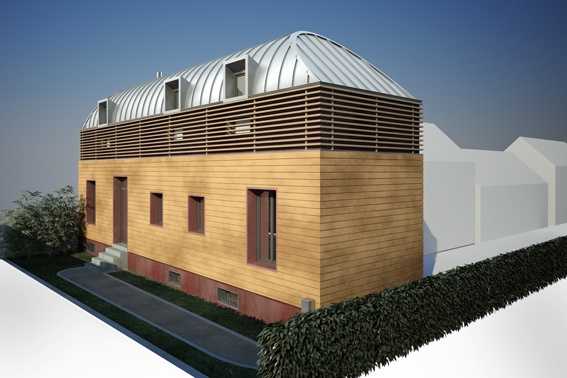 architectes extension et surelevation d 39 une maison chatou. Black Bedroom Furniture Sets. Home Design Ideas