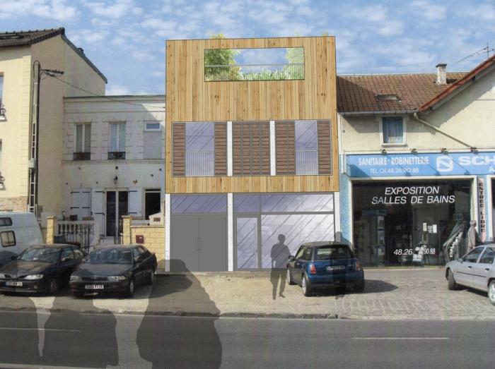 Création d'un immeuble avec commerce et habitation