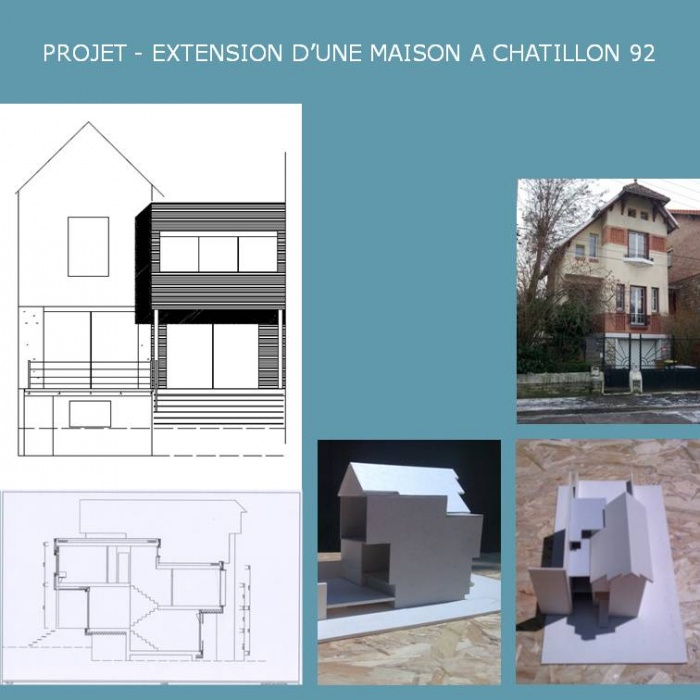 EXTENSION D'UNE MAISON  A CHATILLON