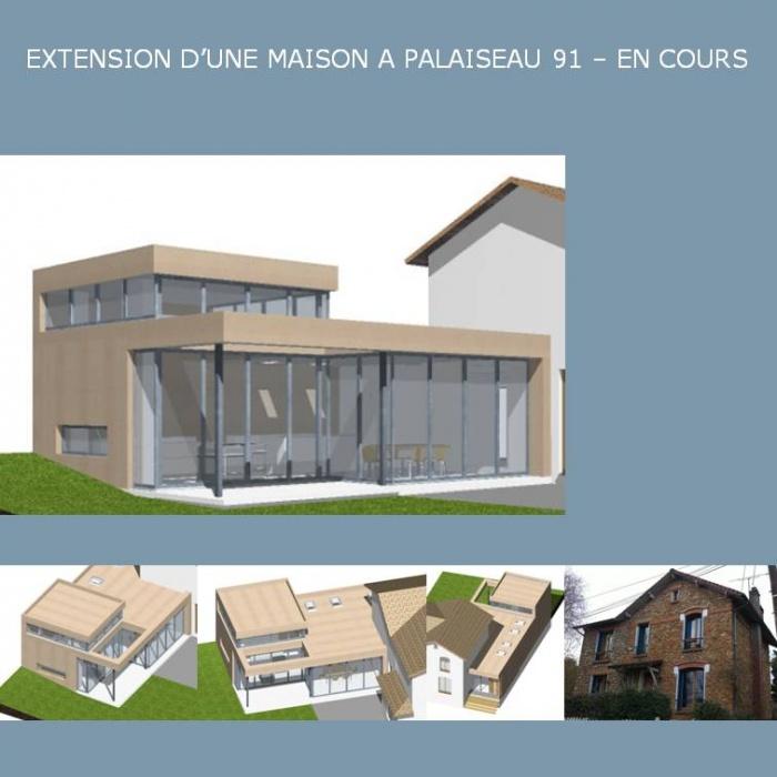EXTENSION D'UNE MAISON A PALAISEAU