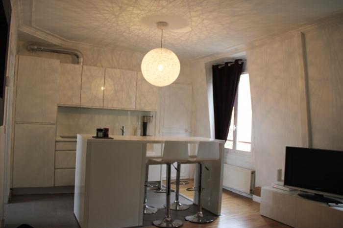Transformation appartement T2 en T3 : salon-cuisine