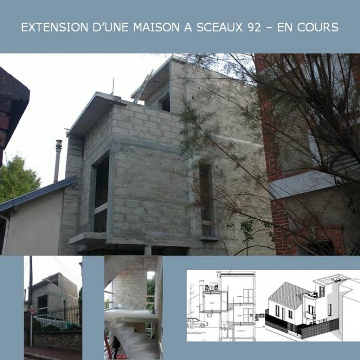 EXTENSION D'UNE MAISON INDIVIDUELLE A SCEAUX