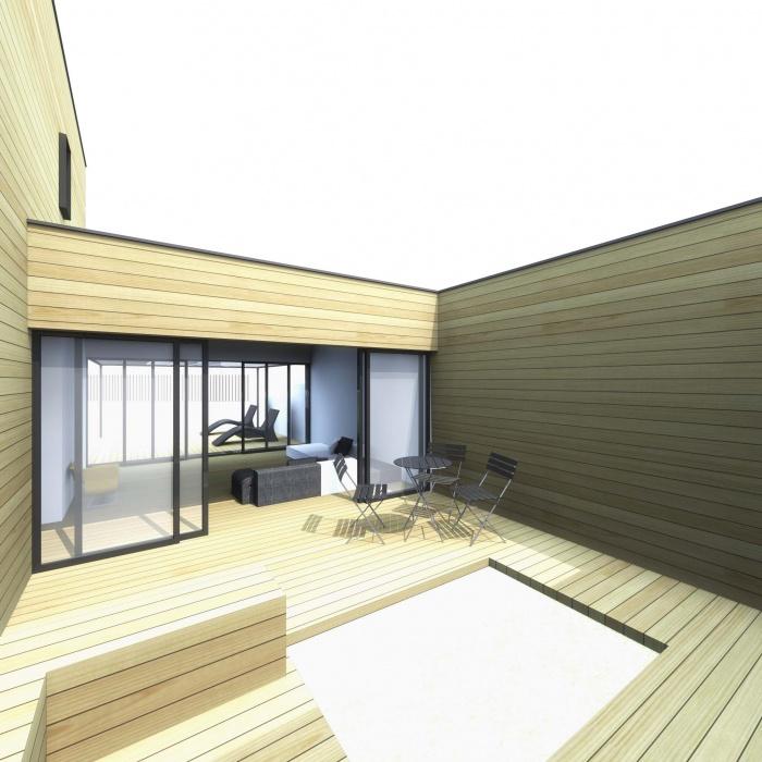 Maison à Patio à Nanterre : patio