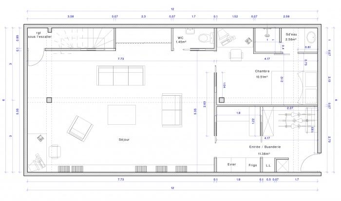 Excavation souplex F : Plan