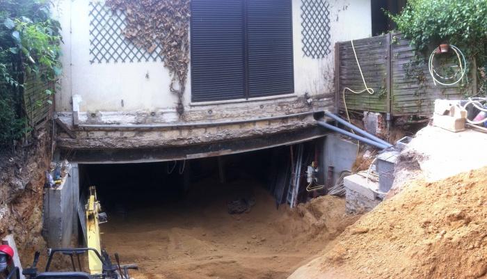 Excavation souplex F : Structure métallique - phase chantier