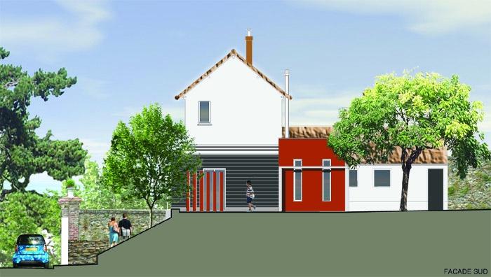 extension clos couvert d 39 une maison individuelle montmorency une r alisation de r mi voillaume. Black Bedroom Furniture Sets. Home Design Ideas