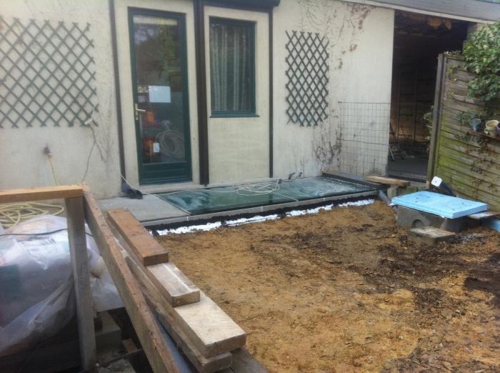 Excavation souplex F : Plancher de verre - Jardin arrière