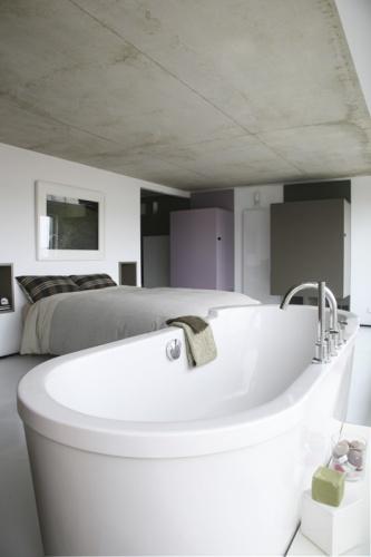 Loft Paris 19° : chambre