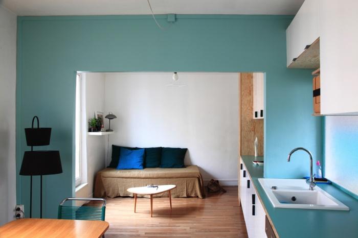 Aménagement d'un appartement de 55m2 pour 4 personnes : EetP4