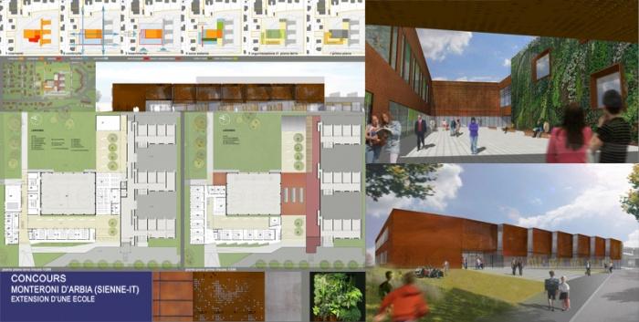 Collège 200 + extension école existante
