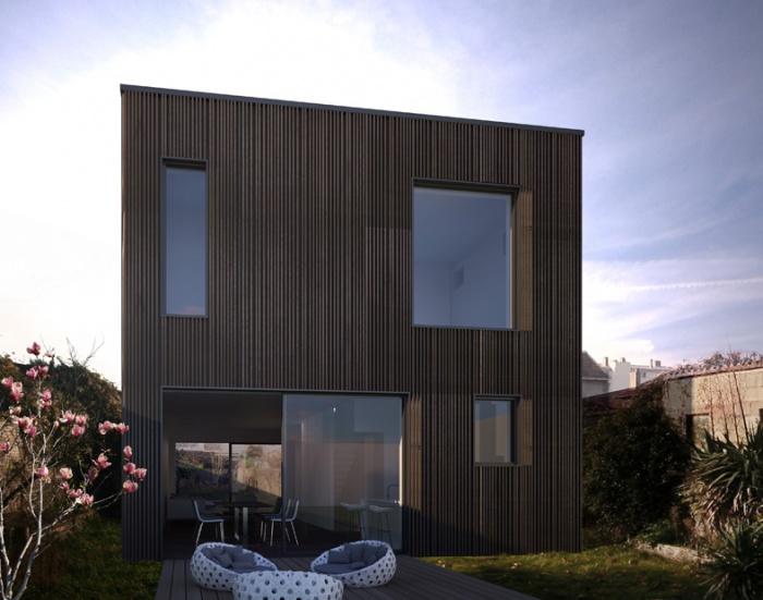 Maison individuelle BBC - ossature bois préfabriquée :