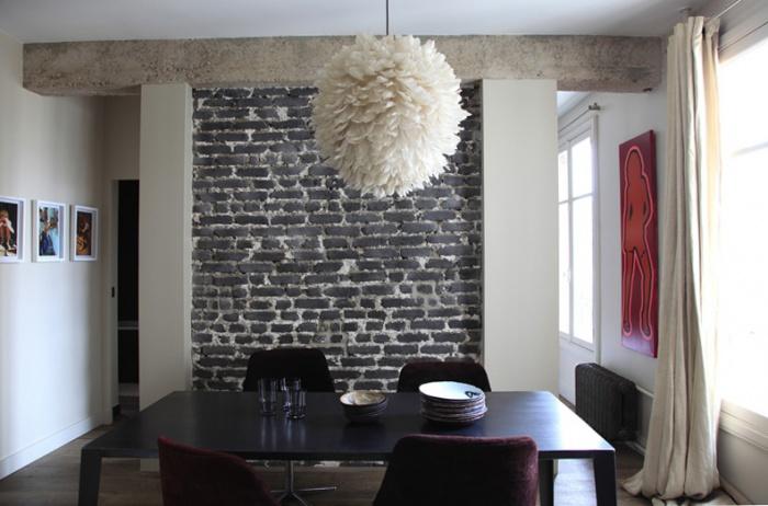 Architectes am nagement int rieur d 39 un appartement d 39 espr - Decoration brique interieur ...