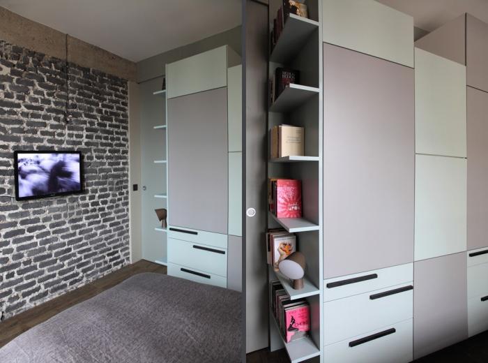 Aménagement intérieur d'un appartement d'esprit loft New-Yorkais : AT10