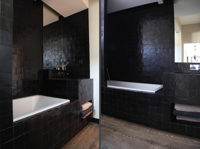 am nagement int rieur d 39 un appartement d 39 esprit loft new yorkais paris une r alisation de. Black Bedroom Furniture Sets. Home Design Ideas