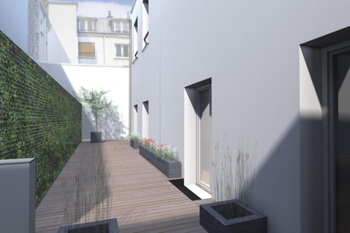 Terrasse d'appartement à Bastille