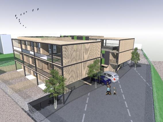 Immeuble ecologique arcueil une r alisation de modern architecture group - Immeuble ecologique ...