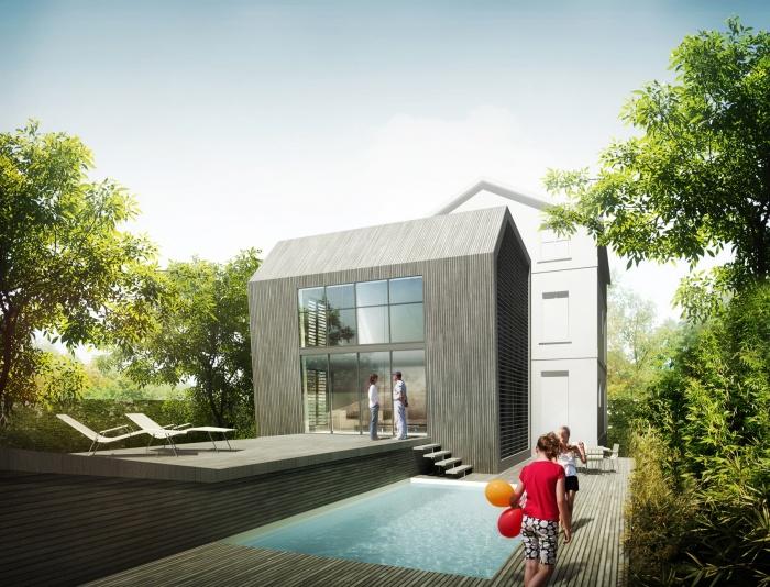 Architectes projet de maison container for Projet maison container