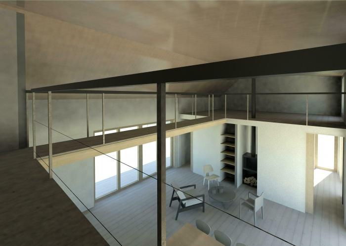 Maison écoresponsable ossature bois_Corse : vue 2