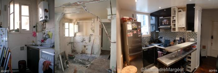 Appartement AS : Cuisine + entrée