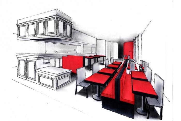 amenagement d 39 une pizzeria normandie une r alisation de leila hireche. Black Bedroom Furniture Sets. Home Design Ideas