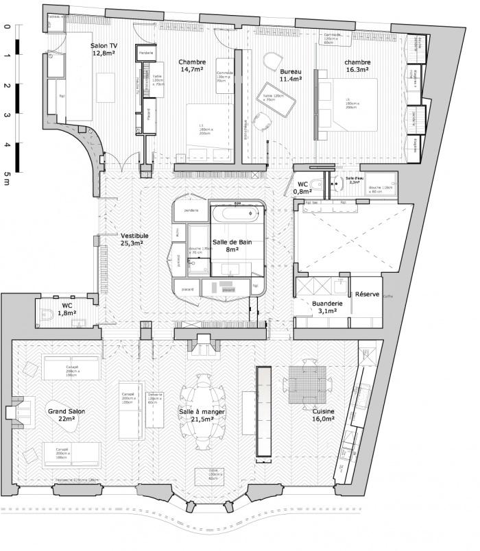 architectes appartement g paris. Black Bedroom Furniture Sets. Home Design Ideas