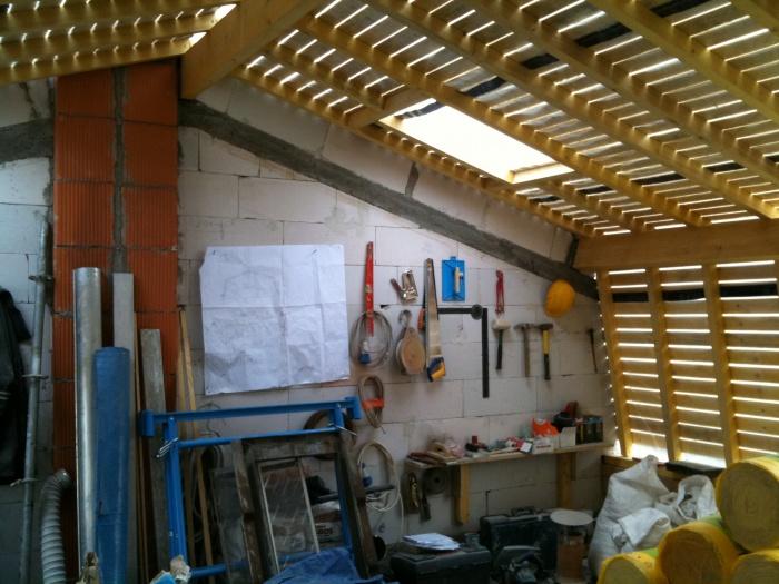 surélévation pavillon / MAISON R : chantier vue 4