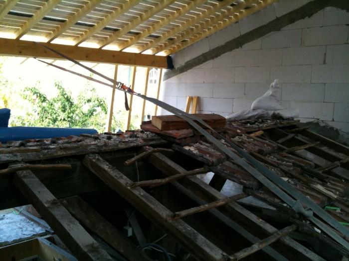 surélévation pavillon / MAISON R : chantier vue 6