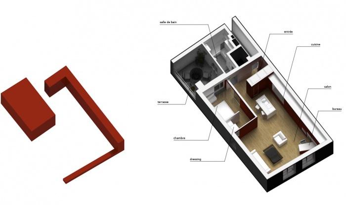 Appartement Saint-Merri : concept et organisation des espaces