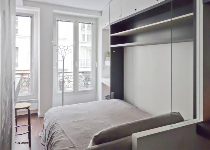 Studio de 15m² à Bastille pour location saisonnière : chambre