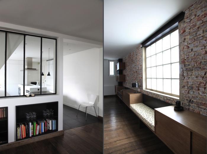 Renovation d'un loft sous les toits : cuisine