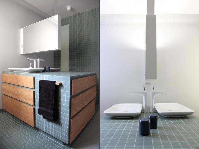 Renovation d'un loft sous les toits : salle d'eau2 et3