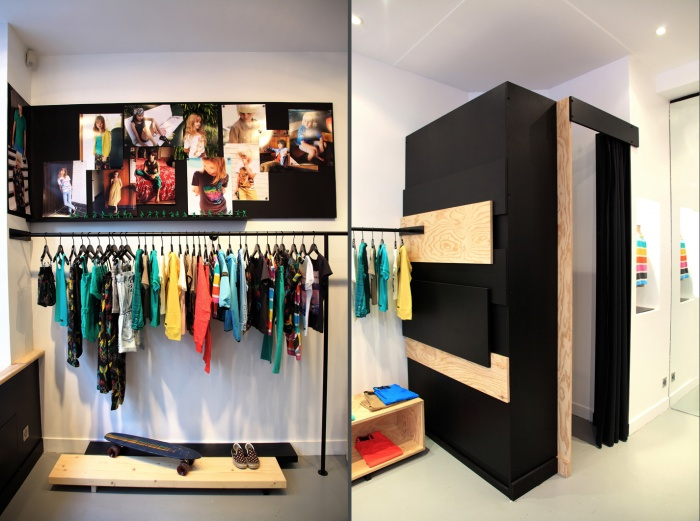 Aménagement intérieur d'une boutique de mode : shop 6 et 7