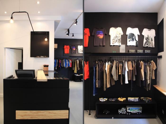 Aménagement intérieur d'une boutique de mode : shop 8 et 9