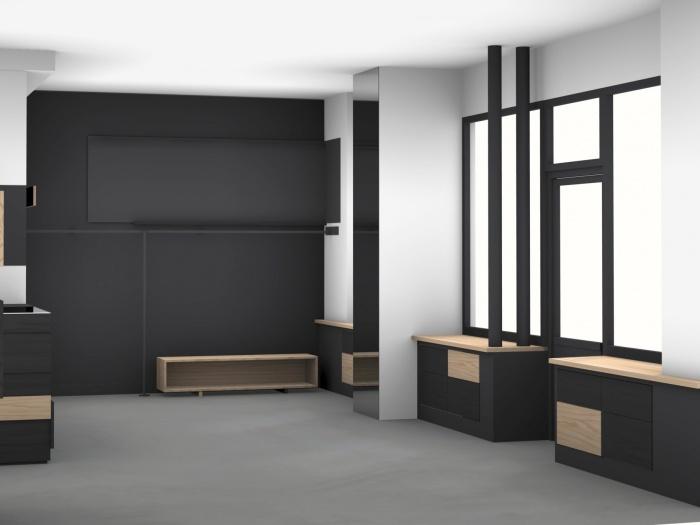 Aménagement intérieur d'une boutique de mode : 3d vue partiel4