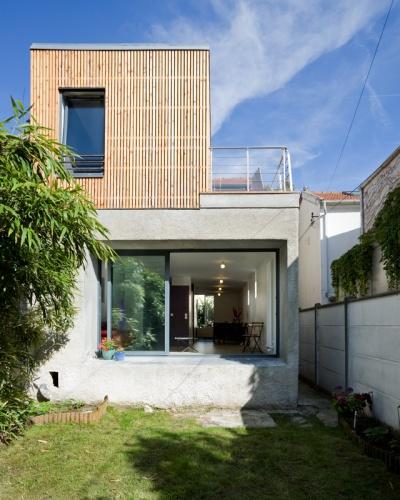 réhabilitation et extension d'une maison à bagnolet