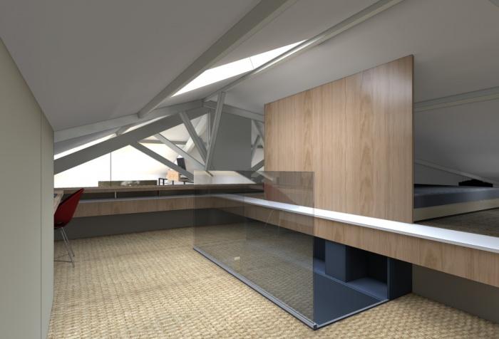 Réhabilitation Appartement + Combles : Vue Chambre
