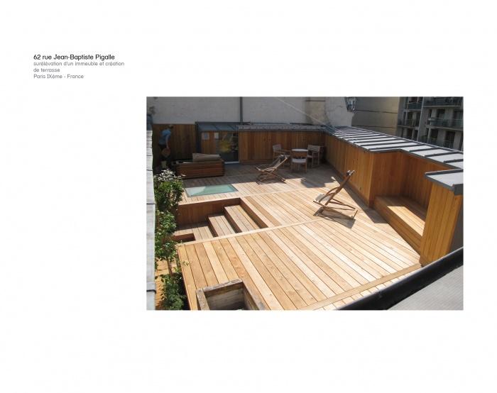 Transformation d'un immeuble d'habitation et création de terrasse