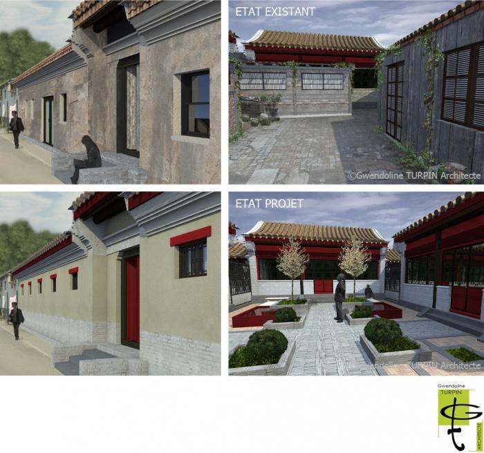 Etude documentaire, diagnostic architectural et établissement de principes de réhabilitation de Siheyuan